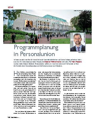 Programmplanung in Personalunion