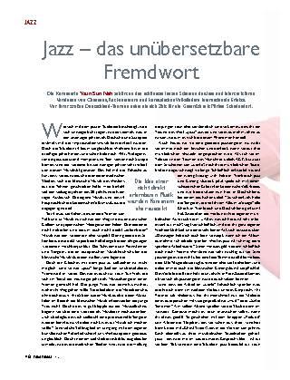 Jazz – das unübersetzbare Fremdwort