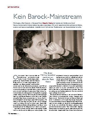 Kein Barock-Mainstream