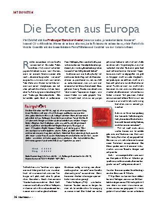 Die Exoten aus Europa