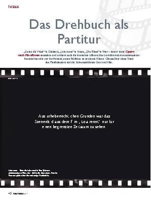 Das Drehbuch als Partitur