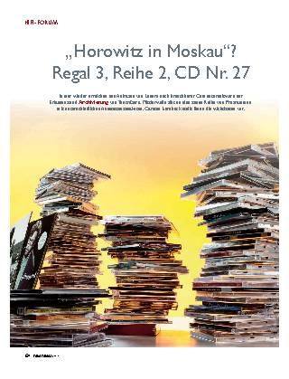 """""""Horowitz in Moskau""""? Regal 3, Reihe 2, CD Nr. 27"""