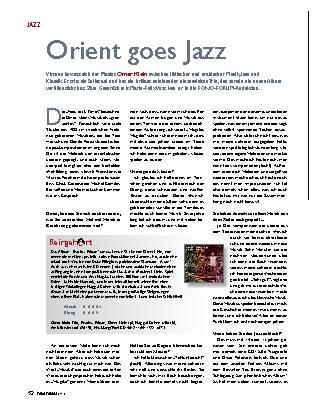 Orient goes Jazz