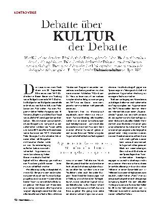 Debatte über Kultur, Kultur der Debatte