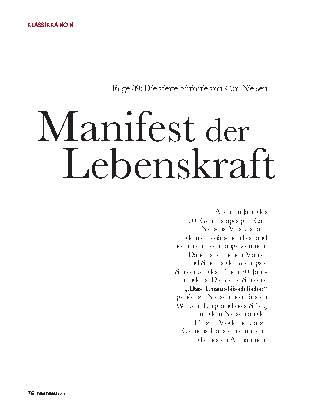 Manifest der Lebenskraft