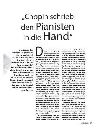 """""""Chopin schrieb den Pianisten in die Hand"""""""