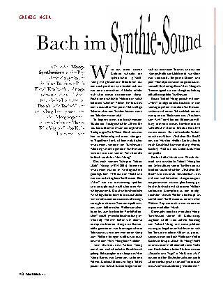 Bach im Synthie-Sound