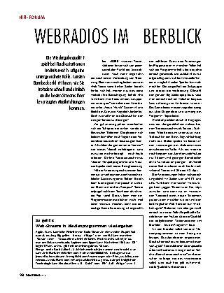 Webradios im Überblick