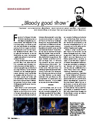 """""""Bloody good show"""""""