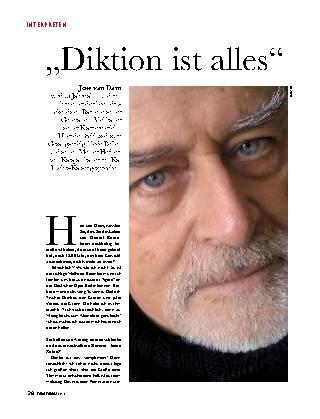 """""""Diktion ist alles"""""""