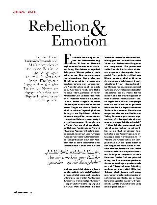 Rebellion & Emotion