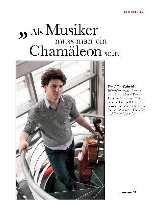 Als Musiker muss man ein Chamäleon sein