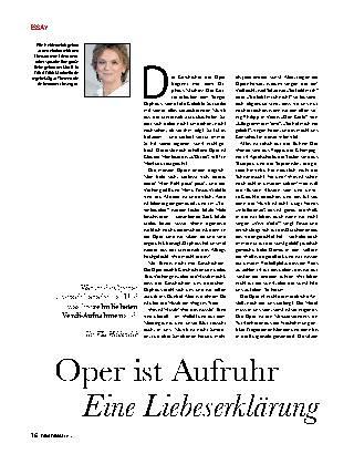 Oper ist Aufruhr - Eine Liebeserklärung