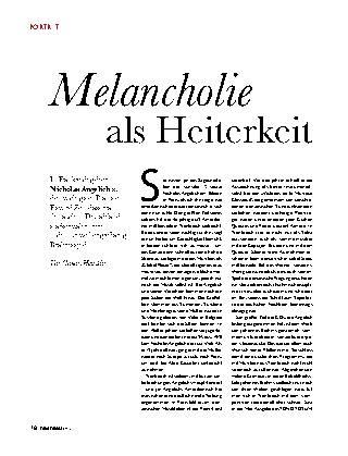 Melancholie als Heiterkeit
