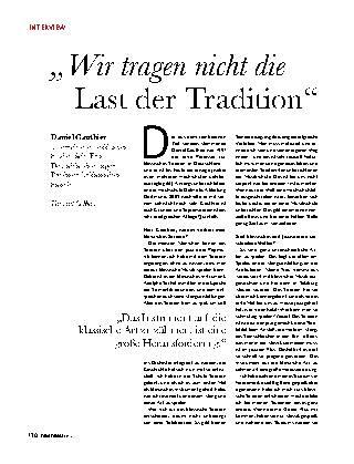 """""""Wir tragen nicht die Last der Tradition"""""""