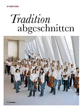 Tradition abgeschnitten
