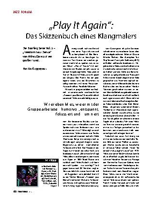"""Play It Again"": Das Skizzenbuch eines Klangmalers"