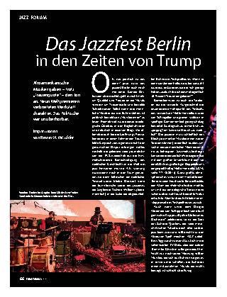 Das Jazzfest Berlin in den Zeiten von Trump