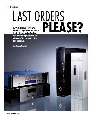 Last Orders Please?