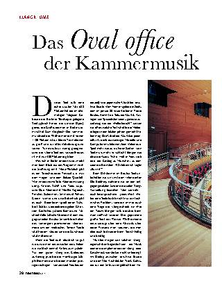 Das Oval offi ce der Kammermusik