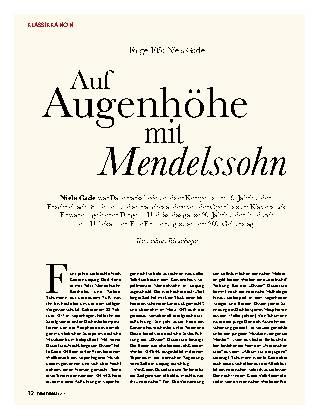 Auf Augenhöhe mit Mendelssohn