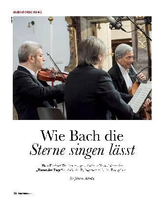 Wie Bach die Sterne singen lässt