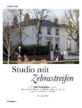 Studio mit Zebrastreifen