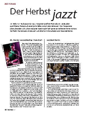 Der Herbst jazzt
