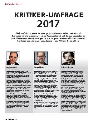 Kritiker-Umfrage 2017