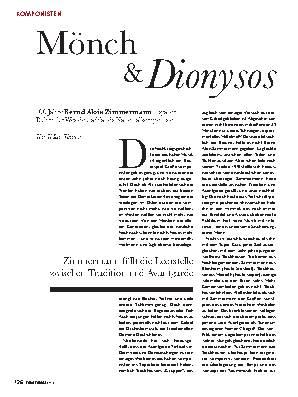 Mönch & Dionysos