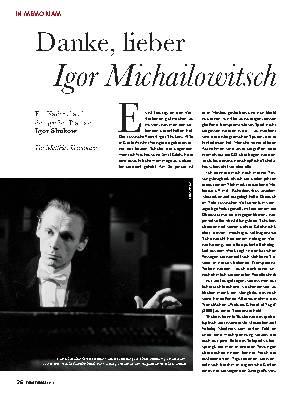 Danke, lieber Igor Michailowitsch