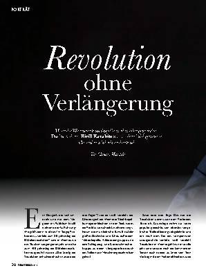Revolution ohne Verlängerung