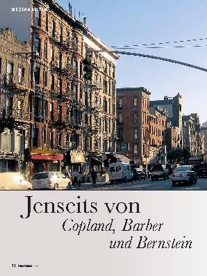 Jenseits von Copland, Barber und Bernstein