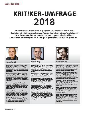 KRITIKER-UMFRAGE 2018