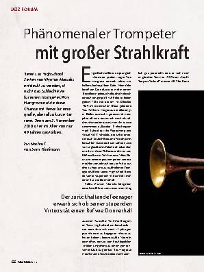Phänomenaler Trompeter mit großer Strahlkraft