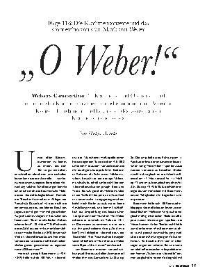 ,,O Weber!