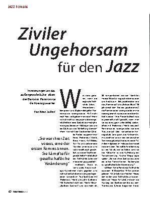 Ziviler Ungehorsam für den Jazz