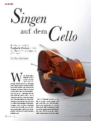 Singen auf dem Cello