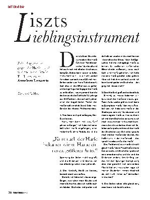 Liszts Lieblingsinstrument