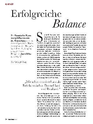 Erfolgreiche Balance