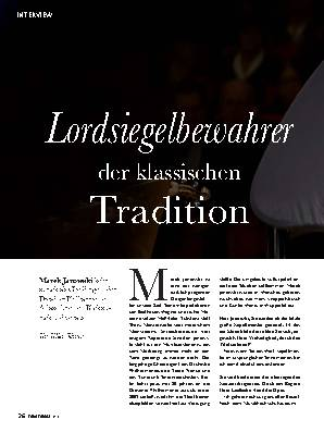Lordsiegelbewahrer der klassischen Tradition