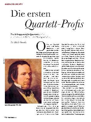 Die ersten Quartett-Profis