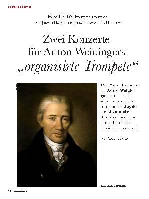 Zwei Konzerte  für Anton Weidingers ,,organisirte Trompete