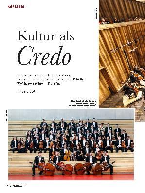 Kultur als Credo