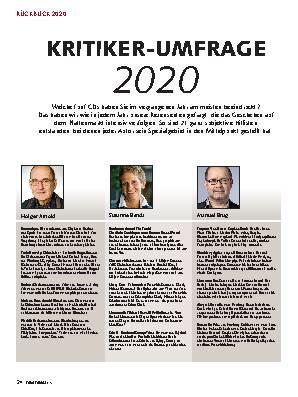 KRITIKER-UMFRAGE  2020