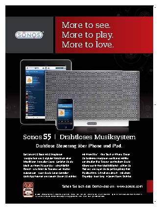 Anzeige Sonos