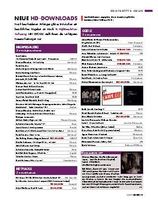 Neue HD-Musik-Downloads