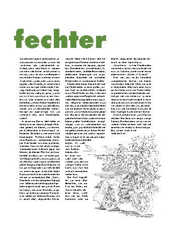 Der Florettfechter
