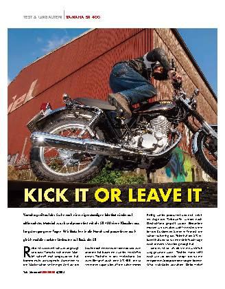 Kick it or leave it