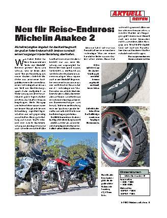 Neu für Reise-Enduros: Michelin Anakee 2